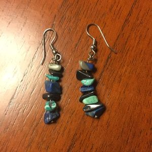 Jewelry - Genuine Lapis and Turquoise Drop Earrings